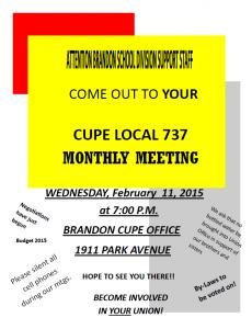 February Meeting Notice